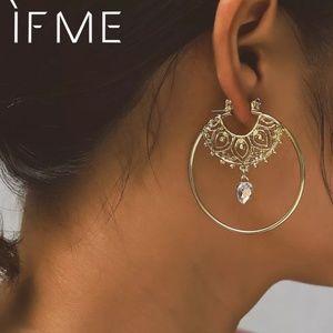 indian boho hipsters hoop earrings